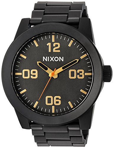 Nixon Men's 'Corporal SS' Quartz Metal and Stainless Steel Watch, Color:Black (Model: A3461032-00) ()