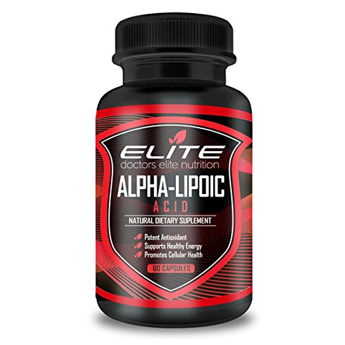 Dr's Elite Alpha Lipoic Acid 600mg Anti Aging Antioxidant Nutritional Supplement - Decrease Diabetic Nerve Pain - Chronic Sciatica Back Pain - Relieve Pain Fast - Highest Potency ALA - 60 Capsules