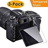 KIMILAR Glass Screen Protector Compatible Nikon D7500, 3 Packs Anti-Scratch Waterproof Clear Touch 9H Tempered Glass Screen Protector Compatible Nikon D7500 DSLR Camera