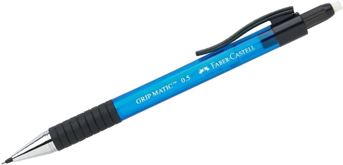 0.5mm Pack of 3 Blue Barrel Faber-Castell Grip Matic Mechanical Pencil