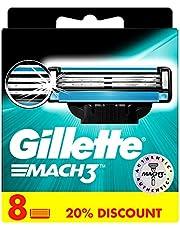 Gillette Mach3 Ostrza wymienne do maszynki do golenia dla mężczyzn, z ostrzami twardszymi niż stal, 8 sztuk