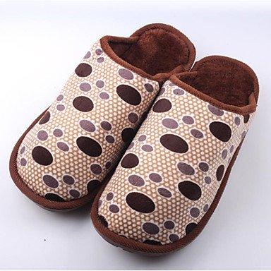 Sandalias de verano zapatos de hombre casual Zapatillas de lana marrón / gris Gris