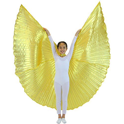 Danzcue 360 Degree Worship Isis Wings, Solid Gold, -