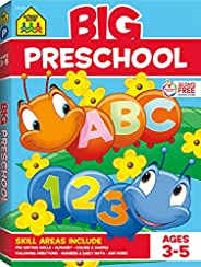 School Zone - Big Preschool Workbook - Ages 3 to 5, Colors, Shapes, Numbers 1-10, Early Math, Alphabet, Pre-Wr