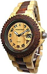 Tense Natural Two Tone Sports Wood Watch G4100MS ANLF (Light Face) Mens