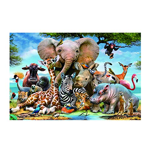 Puzzle 1000 Pieces-African Animals-Juvenile Puzzle Game Adult Wooden Puzzle Toy Gift