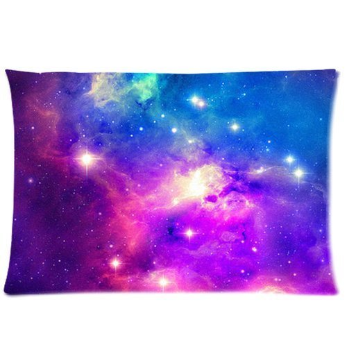Universe Space Nebula Galaxy Pattern Custom Zippered Bed Pillow Cases 20x30 Twin Sides