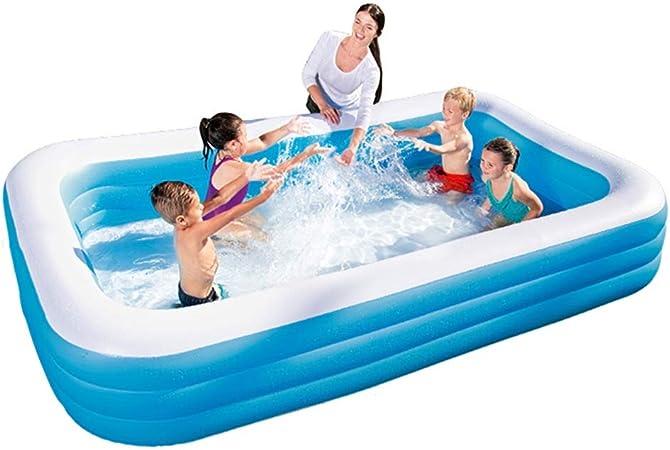 Ryg Piscinas para niños Bañera Inflable, Piscina Infantil, Piscina para Adultos, bañera de hidromasaje, Juego Familiar, Piscina, Azul Piscina Jardin (Size : 305cm*180cm*60cm): Amazon.es: Hogar