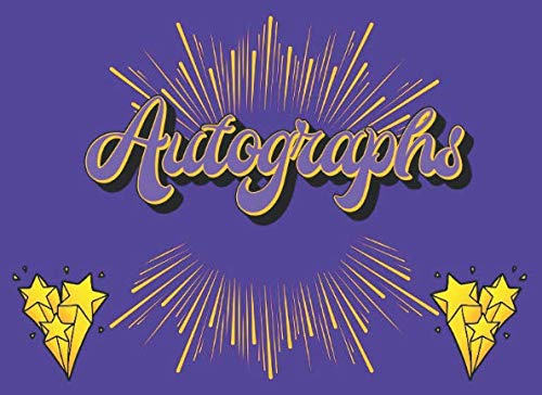 Autographs: My Purple Autograph Signature Book Compact Vacation, Concert, Convention, School and Sporting Event Memory Album Keepsake (Hobby Collector Series) ()