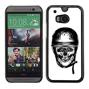 A-type Colorful Printed Hard Protective Back Case Cover Shell Skin for HTC One M8 ( Biker Helmet Motorcycle Britain )