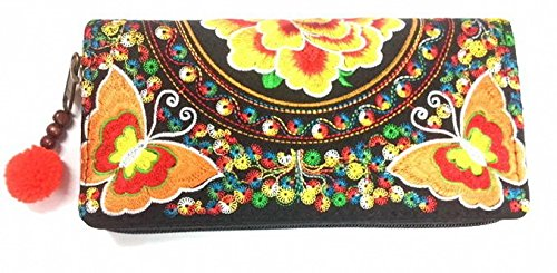 WP Embroidery Butterfly Handbag Handmade