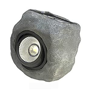 Outdoor Solar Garden Rock Light, 2 Modes LED Solar Powered Light,LED Solar Decor Light for Garden, Patio, Backyard