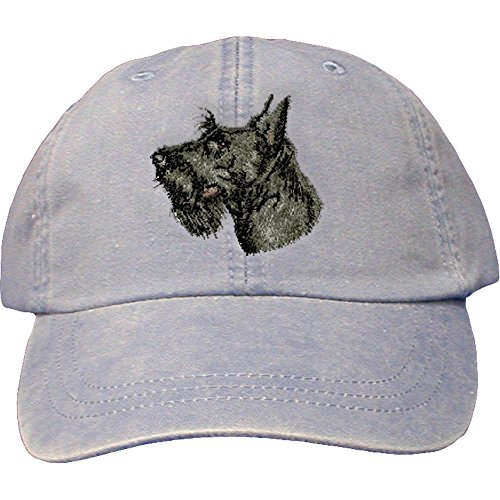 - Cherrybrook Dog Breed Embroidered Adams Cotton Twill Caps - Periwinkle - Scottish Terrier