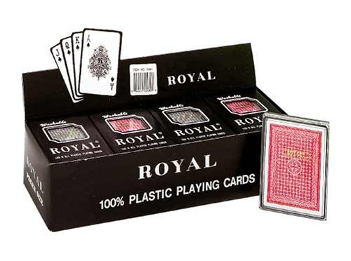 Royal - 100% Plastic Poker Size Playing Cards, 3 1/2'' x 2 1/2'', 1 Dozen by VIPtrades