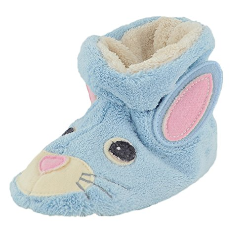Acorn Easy Critter Baby Bunny Infant Girls Canvas Slippers