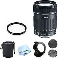 Canon EF-S 18-135mm f/3.5-5.6 IS STM Standard Zoom Premium Lens Bundle (White Box)- International Model