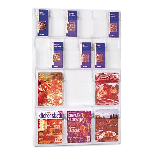 (Safco Display Rack, 6 Magazine/12 Pamphlet Pockets,30