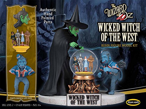 Polar Lights | The Wizard of Oz Wicked Witch of the West Resin | 1:8 Scale Figure Model Kit | Pre-Painted! - Wicked Witch Of The West Flying