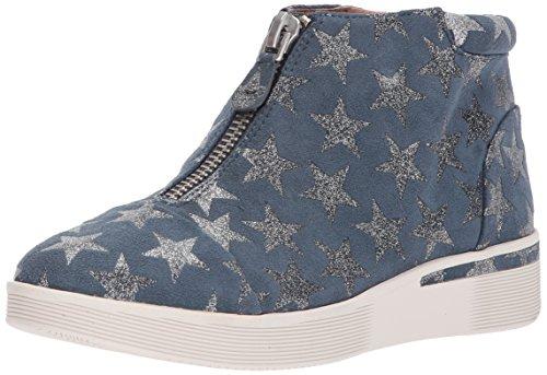 Gentle Souls Women's Hazel-Fay Platform Midtop Front Zip Sneaker, Blue/Silver, 7.5 Medium US by Gentle Souls