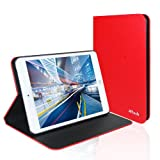 JETech Apple iPad Mini Case Smart Cover for iPad Mini 1/2/3 All Models Slim-Fit Folio with Auto Sleep/Wake Feature (Red)