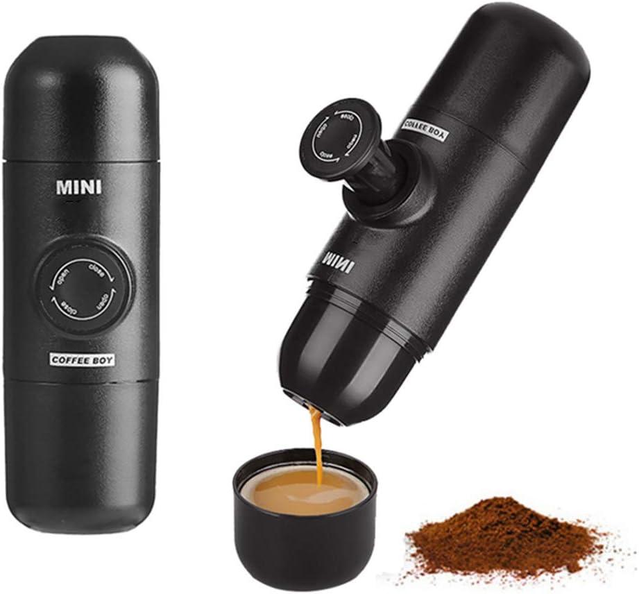 FXXJ Máquina de café Espresso portátil, café molido Compatible ...