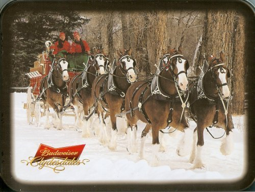 (Playing Cards: Budweiser Clydesdale Horses ~ 2 Decks ~ Collectible Tin Box)