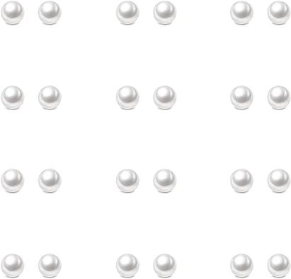 "Single Strand Classic Black Glass Pearls w//FREE Pair Matching Earrings 18-21/"""