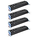 Amsahr Q6000A HP Q6000A, LaserJet 1600, 2600N Compatible Replacement Toner Cartridge with Four Black Cartridges