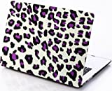 HQF [Personality 13-inch Laptop Case] Rubberized Shell Case Cover for MacBook Pro 13.3'' with Retina Display A1502/A1425 [No CD-ROM](Purple Leopard)