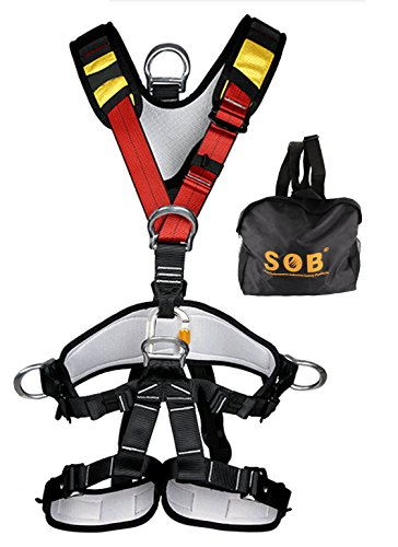 YXGOOD Climbing Harness,Full Body Safety Harness Safe Seat Belt for Outdoor Tree Climbing Harness , Mountaineering Outward Band Expanding Training Caving Rock Climbing Rappelling Equip