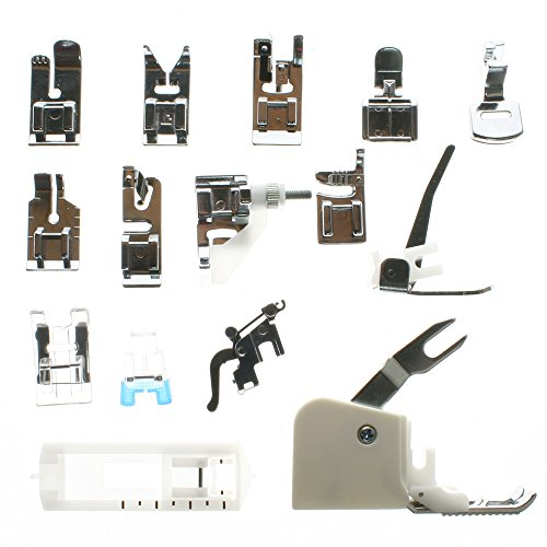 BIGTEDDY 15pc Domestic Sewing system Snap On Presser Walking feet equipment For Brother Singer Babylock Janome Pfaff Kenmore Riccar Necchi Presser Feet