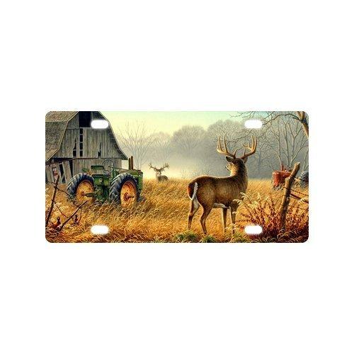 Best Design Cool Old Tractor and Cute Deer/Elk Metal License Plate for Car (New) 12