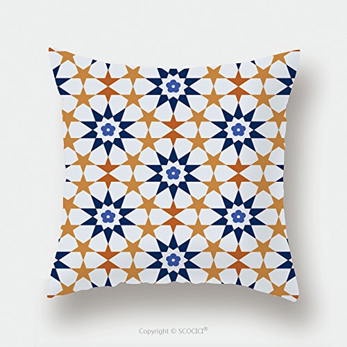 Custom Satin Pillowcase Protector Seamless Tile Pattern Of Islamic Style 414537232 Pillow Case Covers Decorative by chaoran