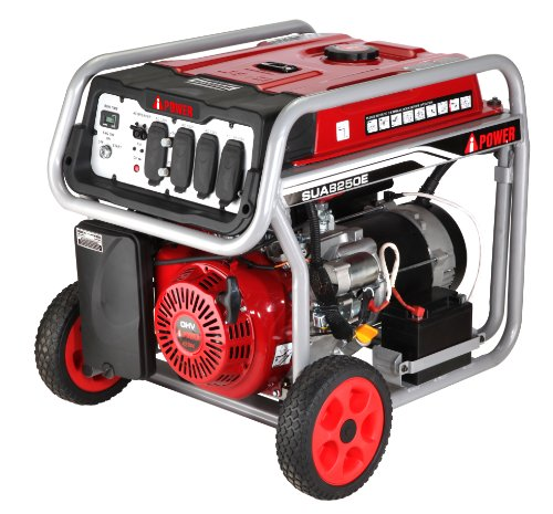 A-iPower SUA8250E 8250W Gasoline operated lightweight Generator with Electric Start, Black/Red Cheap Price