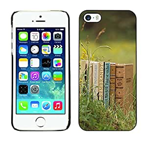 Hot Style Cell Phone PC Hard Case Cover // M00102957 grass photos books // Apple iPhone 5 5S