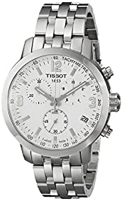 Tissot Men's T0554171101700 PRC 200 Silver-Tone Stainless Steel Watch