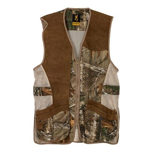 Browning Crossover Vest, Realtree Xtra/Leather, XX-Large