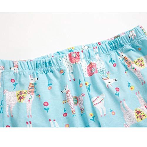 ENJOYNIGHT Women's Cute Sleepwear Tops with Capri Pants Pajama Sets