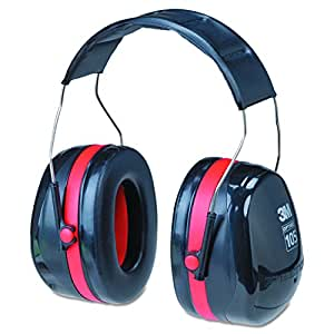 3M Peltor Optime 105 Over the Head Earmuff, Ear Protectors, Hearing Protection, NRR 30 dB