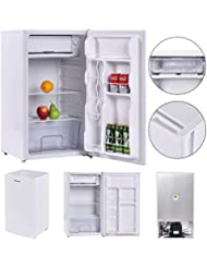 Eight24hours 3.2 Cu. Ft. Compact Single Reversible Door Mini Refrigerator and Freezer Office + FREE E-Book