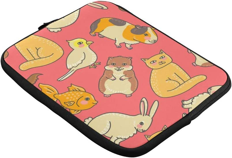 Unique Custom Cute Animated Animals Print Womens Briefcase Bag Soft Computer Laptop Briefcase Briefcase Protective for MacBook Air 11