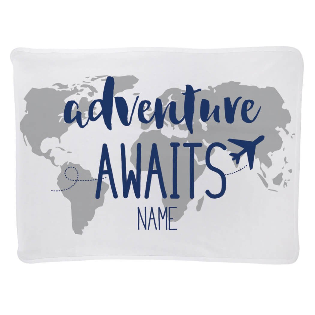 Baby & Infant Blanket | Adventure Awaits | Navy by ChalkTalkSPORTS (Image #5)