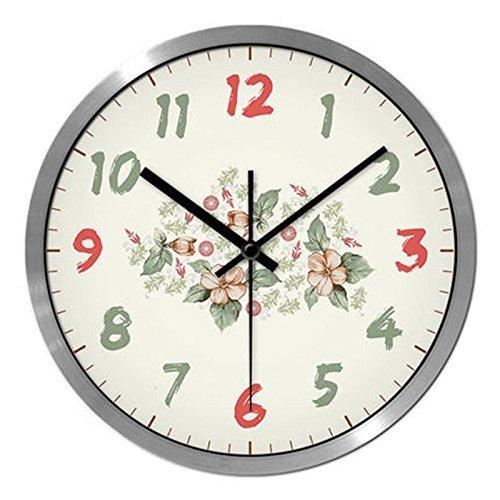 seguro de calidad Reloj de Parojo Estilo Pastoral Fresco Fresco Fresco Salón Dormitorio Creativo Silencio Simple Reloj Reloj de Cuarzo Ver Plata, Talla   S  clásico atemporal