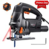 Jigsaw Tool, Tacklife 800W 3000RPM Jigsaw with Laser, 6 Variable...