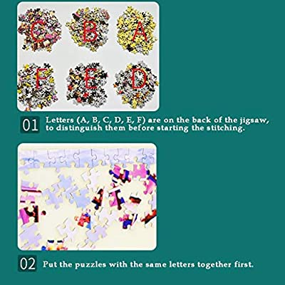 Jigsaw Puzzles 1000 Pieces for Adults Children Puzzle Game Fantasy Stag Deer Painting Interesting Toys Landscape Puzzles Work from Home Entertainment: Toys & Games