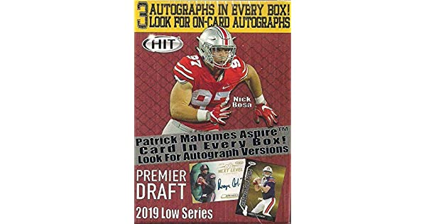 S 5 CT//Pack 2 Auto//caja! Nuevo 2020 NFL Fútbol Leaf Draft paquete sellado sin abrir//