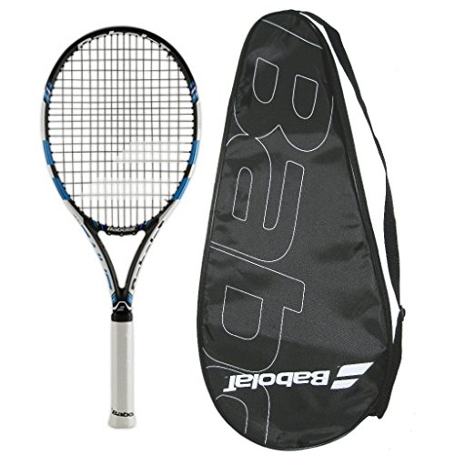 Babolat 2015-2017 Pure Drive Team Tennis Racquet - STRUNG with COVER (4-1/2)