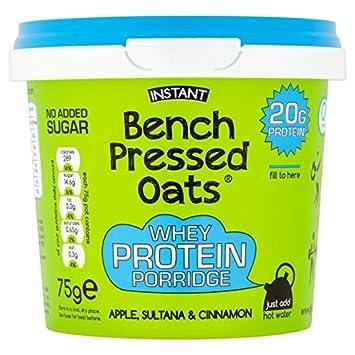 Bench Presionado Avena High Protein Manzana y Canela 75g: Amazon.es: Hogar