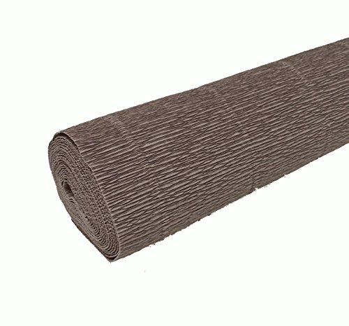 FloristryWarehouse Taupe Grey 604 Crepe paper roll 20 inches wide x 8ft  long  Top quality Italian paper craft