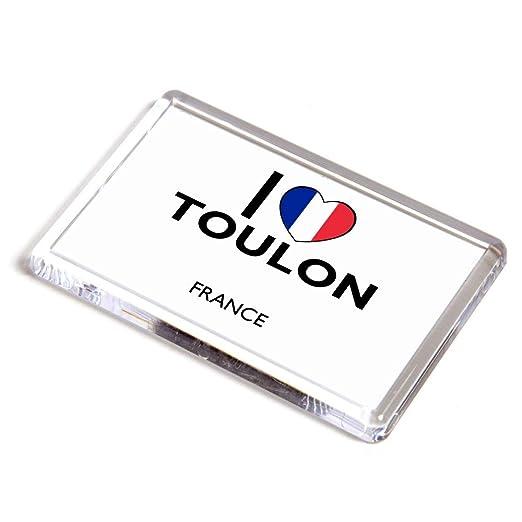 Imán para Nevera, diseño con Texto en inglés I Love Toulon ...